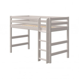 Sivá detská posteľ z borovicového dreva Flexa Classic, výška 143 cm