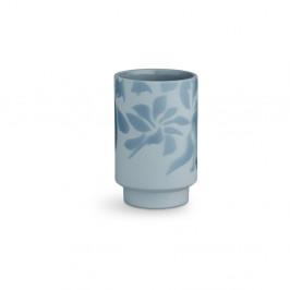 Svetlomodrá kameninová váza Kähler Design Kabell, výška 12,5 cm