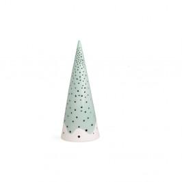 Tyrkysový vianočný svietnik z kostného porcelánu Kähler Design Nobili, výška 25,5 cm
