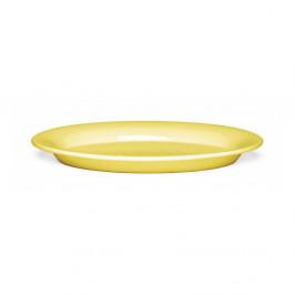 Žltý kameninový tanier Kähler Design Ursula, 28×18,5 cm