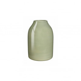 Svetlozelená kameninová váza Kähler Design Botanica, výška 12,5 cm