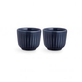 Súprava 2 tmavomodrých porcelánových misiek na vajíčka Kähler Design Hammershoi, ⌀ 5 cm