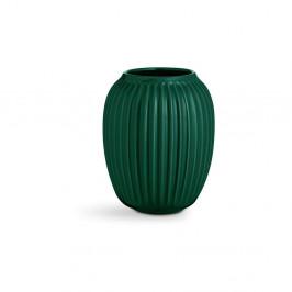 Zelená kameninová váza Kähler Design Hammershoi, výška 20 cm