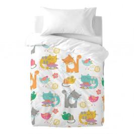 Detské bavlnené obliečky Moshi Moshi Cat & Mouse, 100×120cm