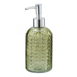 Zelený sklenený dávkovač mydla Wenko Vetro