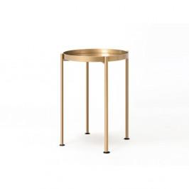 Príručný oceľový stolík v zlatej farbe Custom Form Hanna, ⌀ 40 cm