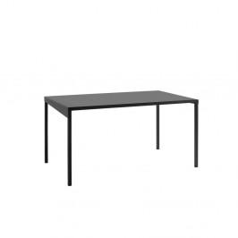 Čierny kovový jedálenský stôl Custom Form Obroos, 140 x 80 cm