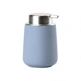 Modrý porcelánový dávkovač tekutého mydla Zone Blue Fog, 250 ml