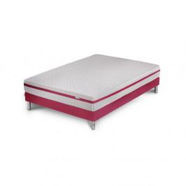 Ružová posteľ s matracom Stella Cadente Maison Pluton, 140 × 200 cm
