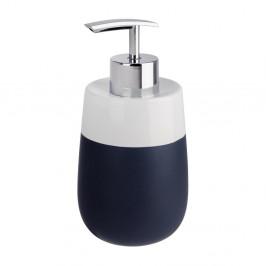 Modro-biely keramický dávkovač na mydlo Wenko Matta