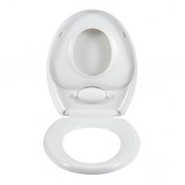 Biela toaletná doska Wenko Family Easy Close