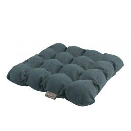 Sivomodrý vankúš na sedenie s masážnymi loptičkami Linda Vrňáková Bubbles, 45 × 45 cm