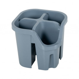 Sivý odkvapkávač na príbory z recyklovaného plastu Addis Eco Range