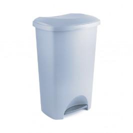 Sivý pedálový odpadkový kôš z recyklovaného plastu Addis Eco Range, 50 l