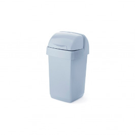 Sivý odpadkový kôš z recyklovaného plastu Addis Eco Range, 10 l
