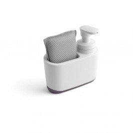 Bielo-sivý dávkovač na mydlo Addis