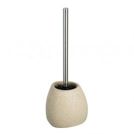 Béžová keramická toaletná kefa Wenko Pion