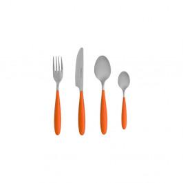4-dielny set príborov s oranžovou rukoväťou Brandani Ginger