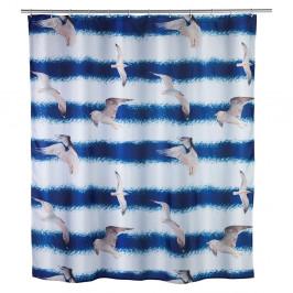 Modrý sprchový záves Seagull Wenko, 1,8 m x 2 m