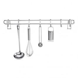 Kuchynský nástenný stojan so 7 háčikmi Wenko Hook Style