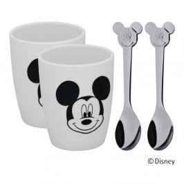 Súprava 2 pohárikov a 2 lyžičiek WMF Mickey Mouse