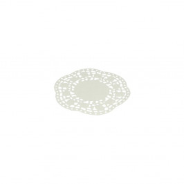 Sada 40 bielych papierových dekorácií pod tortu Metaltex, ø 11 cm