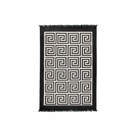 Béžovo-čierny obojstranný koberec Framed, 80×150 cm