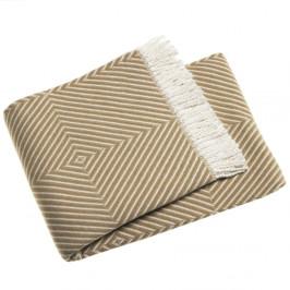 Hnedý pléd s podielom bavlny Euromant Tebas, 140x180 cm