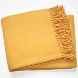 Žltá deka s podielom bavlny Euromant Basics, 140x180cm
