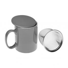 Sivý čajový hrnček so sitkom Versa Taza, 350 ml