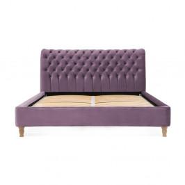 Fialová posteľ z bukového dreva Vivonita Allon, 180 × 200 cm