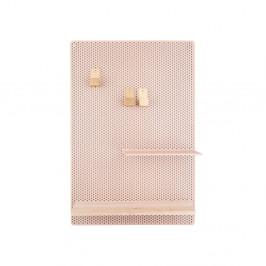 Pieskovohnedá kovová nástenka PT LIVING Perky, 34,5 x 52,5 cm