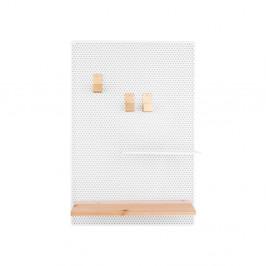 Biela kovová nástenka PT LIVING Perky, 34,5x52,5cm