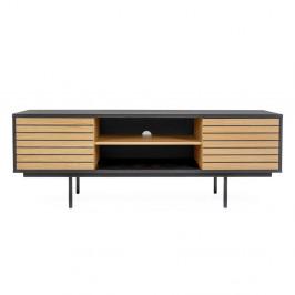 TV stolík z dubového dreva Woodman Stripe