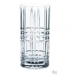 Sada 4 pohárov z krištáľového skla Nachtmann Square Longdrink, 445 ml