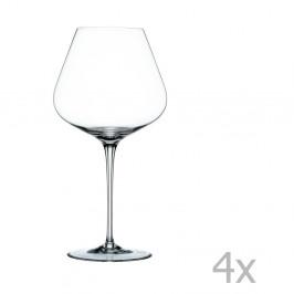 Sada 4 pohárov na červené víno z krištáľového skla Nachtmann ViNova Balloon, 840 ml