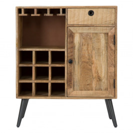 Skrinka z mangového dreva Mauro Ferretti Belgrado Cellar, šírka 75 cm