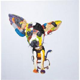 Obraz olejomaľba Kare Design Chihuahua, 100 × 100 cm
