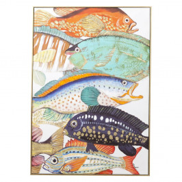 Obraz Kare Design Touched Fish Meeting II., 100 × 75 cm