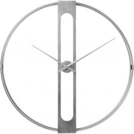 Nástenné hodiny v striebornej farbe Kare Design Clip, ø 107 cm