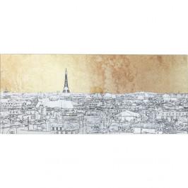 Zasklený obraz Kare Design Paris View, 120 × 50 cm