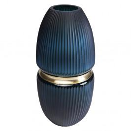 Tmavomodrá váza Kare Design Cesar, výška 45 cm