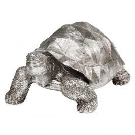 Dekoratívna soška korytnačky v striebornej farbe Kare Design Turtle