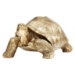 Dekoratívna soška korytnačky v zlatej farbe Kare Design Turtle