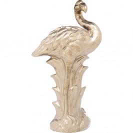 Dekorácia v zlatej farbe Kare Design Flamingo Front