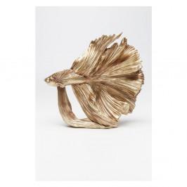 Dekoratívne socha v zlatej farbe Kare Design Betta Fish