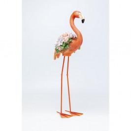 Oranžová dekorácie Kare Design Flamingo, výška 75 cm