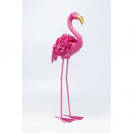 Ružová dekorácie Kare Design Flamingo, výška 75 cm