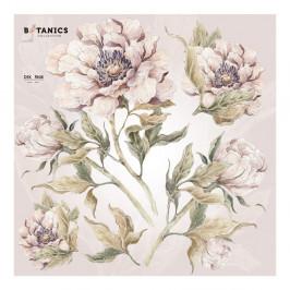 Sada nástenných samolepiek s motívom kvetín Dekornik, 70 x 70 cm