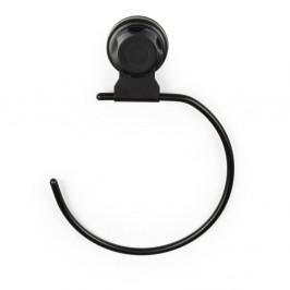 Čierny samodržiaci nástenný držiak na osušky Compactor Bestlock Black Belt And Towel Support